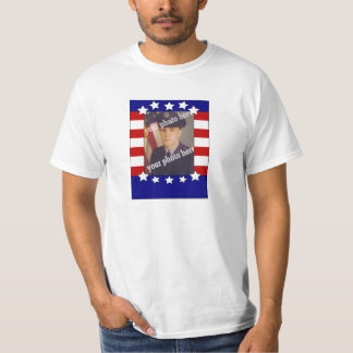 Stars and Stripes Patriotic Custom Photo Red White Tee Shirt