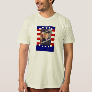 Stars and Stripes Patriotic Custom Photo Red White Tshirts