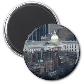 State House 6 Cm Round Magnet