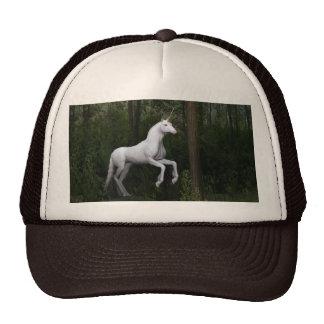 Stately White Unicorn Cap
