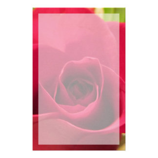 """Stationery--""""Drop Dead Red"""" Rose With Border Stationery Design"""