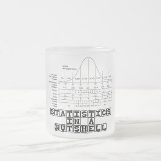 Statistics In A Nutshell (Stats Cheat Sheet) Frosted Glass Mug
