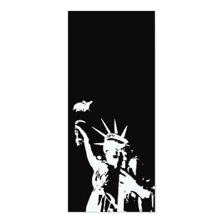 Statue of Liberty Silhouette Invitation