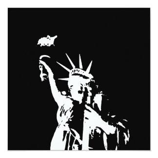 Statue of Liberty Silhouette Invites