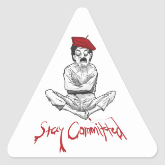 Stay Committed Insane Painter Triangular-Sticker Triangle Sticker