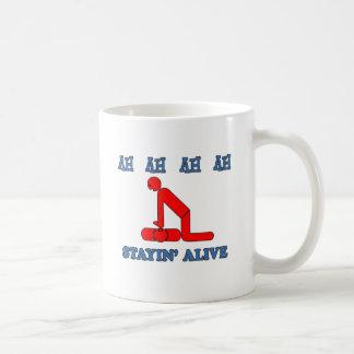 Stayin' Alive Basic White Mug