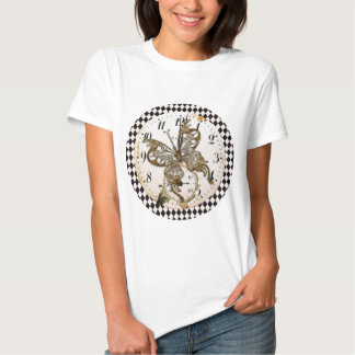Steampunk Butterfly Round T Shirts