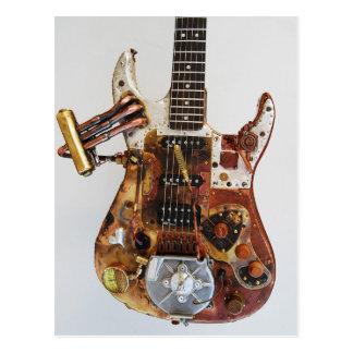 Steampunk Guitar Postcard