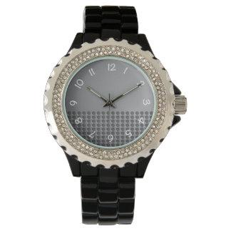 Steel Metal Effect Clock Face Watch