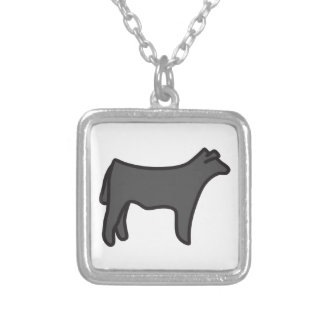 Steer Square Pendant Necklace