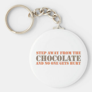 Step Away From the Chocolate Basic Round Button Key Ring