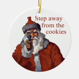 Step Away from the Cookies Round Ceramic Decoration
