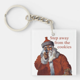 Step Away from the Cookies Single-Sided Square Acrylic Key Ring