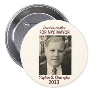 Stephen Christopher for NYC Mayor 2013 7.5 Cm Round Badge