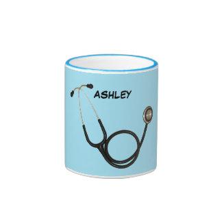 Stethoscope with Custom Name Ringer Mug