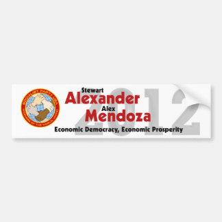 Stewart Alexander 2012 Bumper Sticker #1