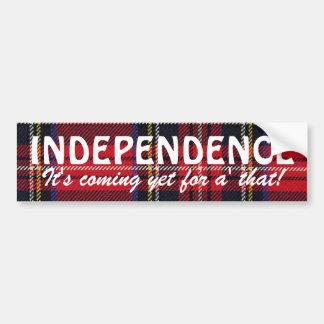 Stewart Tartan Scottish Independence Sticker Bumper Sticker