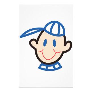 Stick Boy Face Customised Stationery