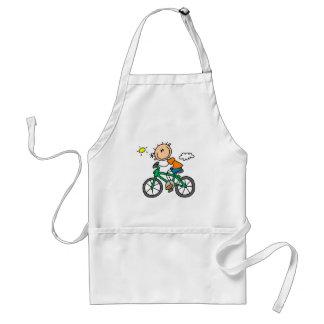 Stick Boy Riding Bicycle Standard Apron