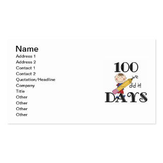 Stick Figure 100 Days Pack Of Standard Business Cards