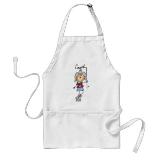 Stick Figure Cowgirl with Lasso Apron