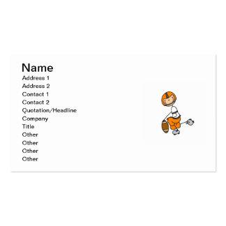 Stick Figure Football Orange Pack Of Standard Business Cards