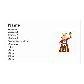 Stick Figure King Pack Of Standard Business Cards