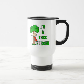 Stick Figure Tree Hugger T-shirts and Gifts Stainless Steel Travel Mug