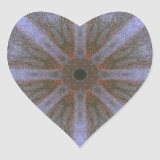 Sticker approx. 4cm, 20's sheet - Blüten-Mandala-1