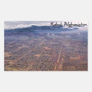 Sticker: Kabul from above Rectangular Sticker