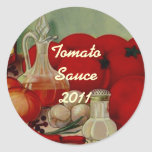Sticker Tomatoes Kitchen Home Canning Jar Circles