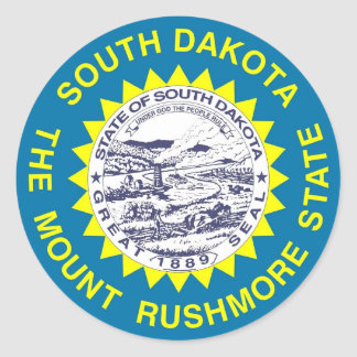 Sticker with Flag of South Dakota State
