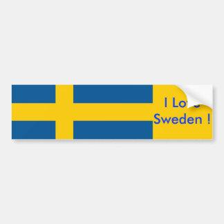 Sticker with Flag of Sweden Bumper Sticker