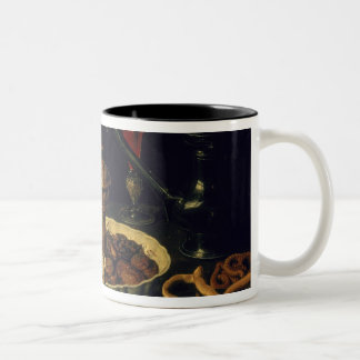 Still Life of Flowers and Dried Fruit, 1611 Two-Tone Mug