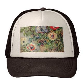 Stilll Life with Anemones - Claude Monet Cap