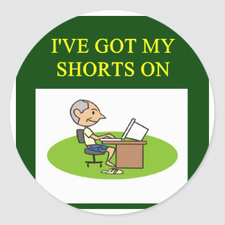 stock investing gifts t-shirts round sticker