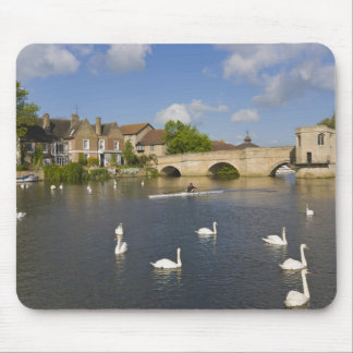 Stone arched bridge and River Ouse, St Ives, Mouse Pad