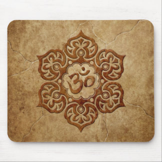 Stone Floral Aum Design Mouse Pad