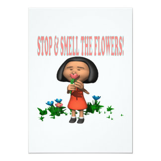 Stop And Smell The Flowers 13 Cm X 18 Cm Invitation Card