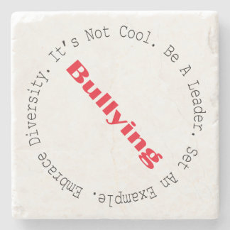 Stop Bullying-Outline by Shirley Taylor Stone Coaster