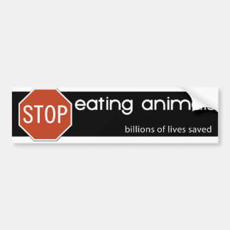 STOP EATING ANIMALS 3 BUMPER STICKER