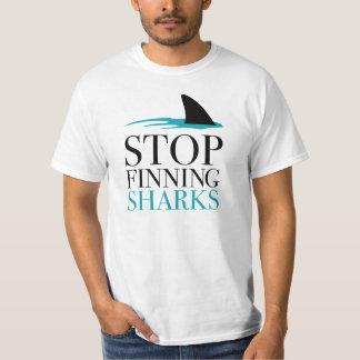 STOP FINNING SHARKS TSHIRT