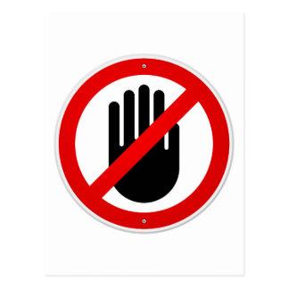 Stop Hand Symbol Postcard
