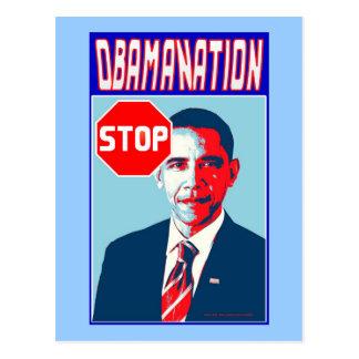 Stop Obamanation Pop Art Political Satire Product Postcard