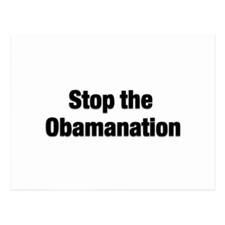 Stop the Obamanation Postcard