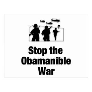 Stop the Obamanible War Postcard