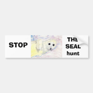 Stop The Seal hunt Bumper Sticker