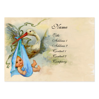 STORK BABY SHOWER 2 PACK OF CHUBBY BUSINESS CARDS