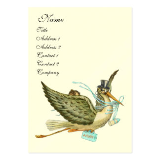 STORK BABY SHOWER PACK OF CHUBBY BUSINESS CARDS