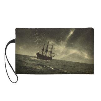 Storm at Sea Wristlet Clutch